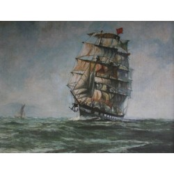 S.V. Wavertree  in Soundings English Channel